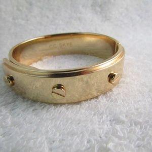 CC SKYE Bolt Shiny Gold Tone Bangle Bracelet